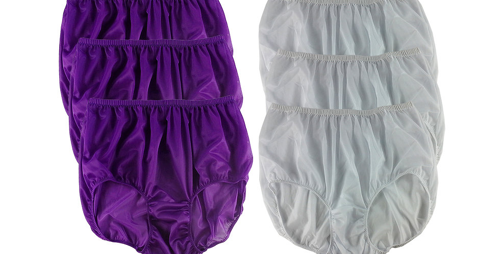 NSD78Lots 6 pcs Wholesale Women New Panties Granny Briefs Nylon Lingerie