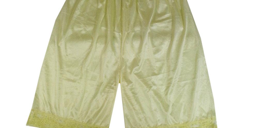 PTP11 fair yellow Silky Nylon Pettipants Women Men Slips Lace Lingerie