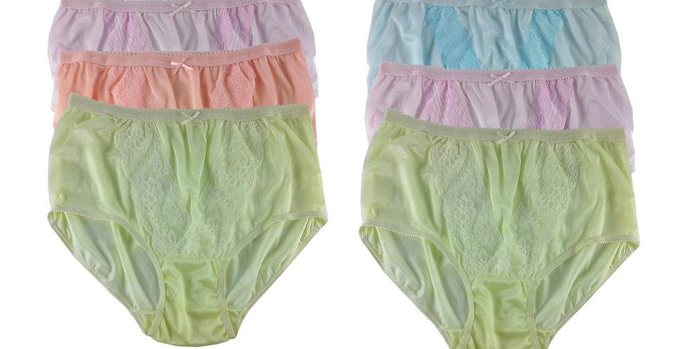 NLSG85 Lots 6 pcs Wholesale New Panties Granny Briefs Nylon Men Women