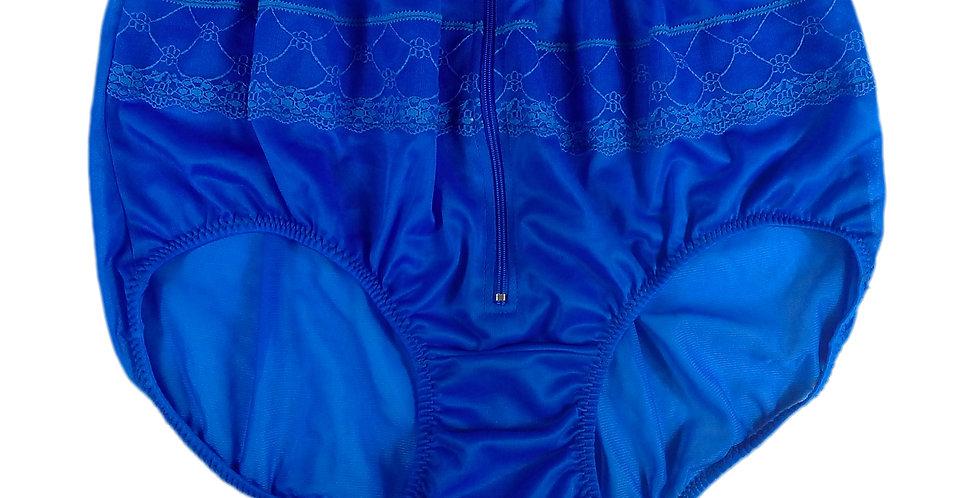 JYH03D07 Blue Handmade Nylon Panties Women Men Lace Knickers Briefs