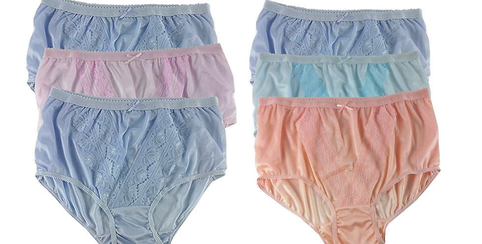NLSG29 Lots 6 pcs Wholesale New Panties Granny Briefs Nylon Men Women