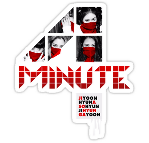 4MINUTE HATE SSTK026 K-Pop Music Brand Car Window Decal Sticker