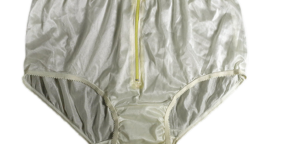 NYH03D01 Yellow Handmade New Panties Briefs Lace Sheer Nylon Men Women