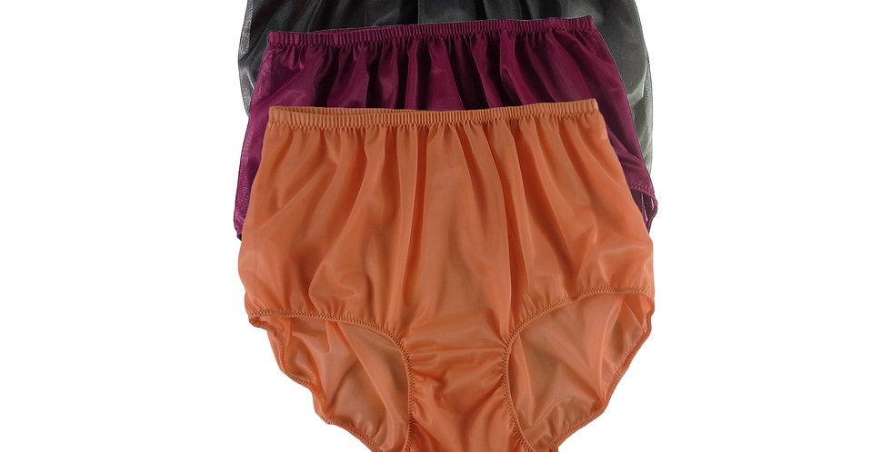A100 Lots 3 pcs Wholesale Women New Panties Granny Briefs Nylon Knickers