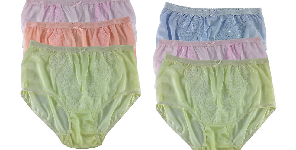 NLSG91 Lots 6 pcs Wholesale New Panties Granny Briefs Nylon Men Women