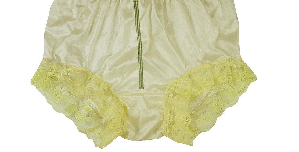 NYH19D01 Yellow Zipper Handmade New Panties Briefs Lace Sheer Nylon Men Women