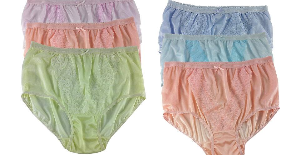 NLSG94 Lots 6 pcs Wholesale New Panties Granny Briefs Nylon Men Women
