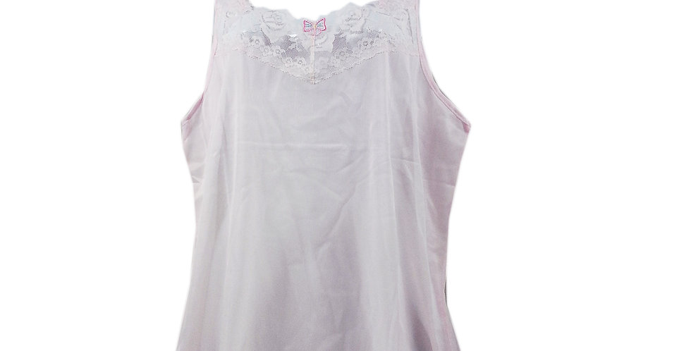 BOS05 Pink Silky New Nylon Blouse Lace Camisole Tank Top Women
