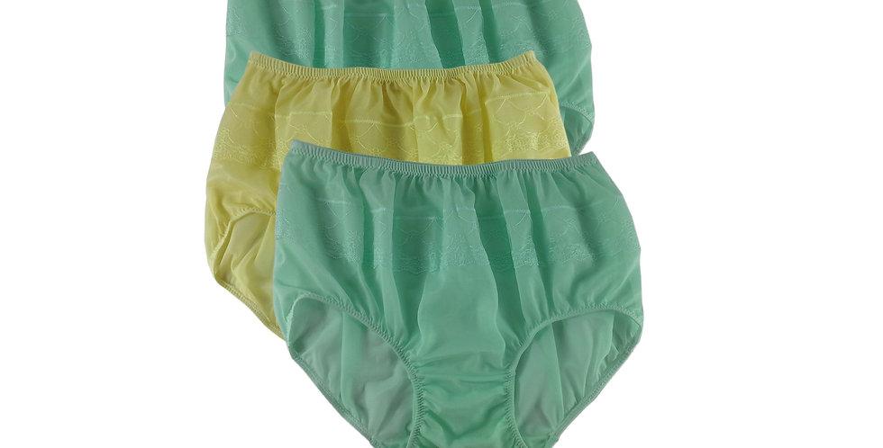 JYTB08 Lots 3 pcs Wholesale Nylon Panties Women Men Floral Briefs