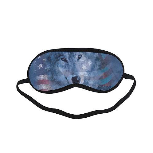 ATEM342 Wolf deer american flag Eye Printed Sleeping Mask