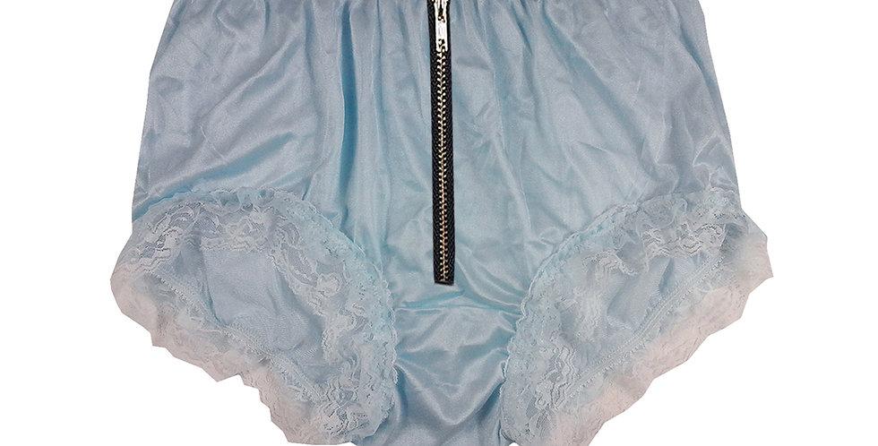 NYH23DI01 Blue Zipper Handmade New Panties Briefs Lace Sheer Nylon Men Women