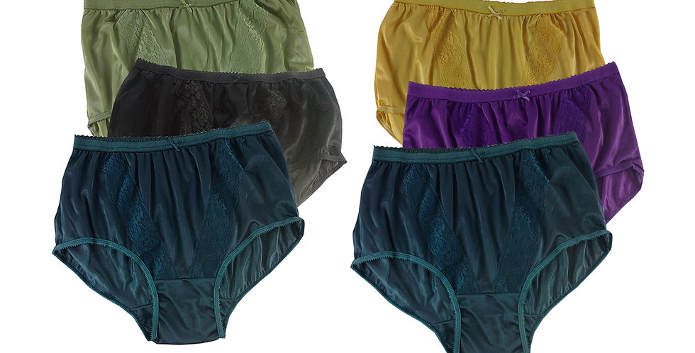 KJSJ17 Lots 6 pcs Wholesale New Panties Granny Briefs Nylon Men Women