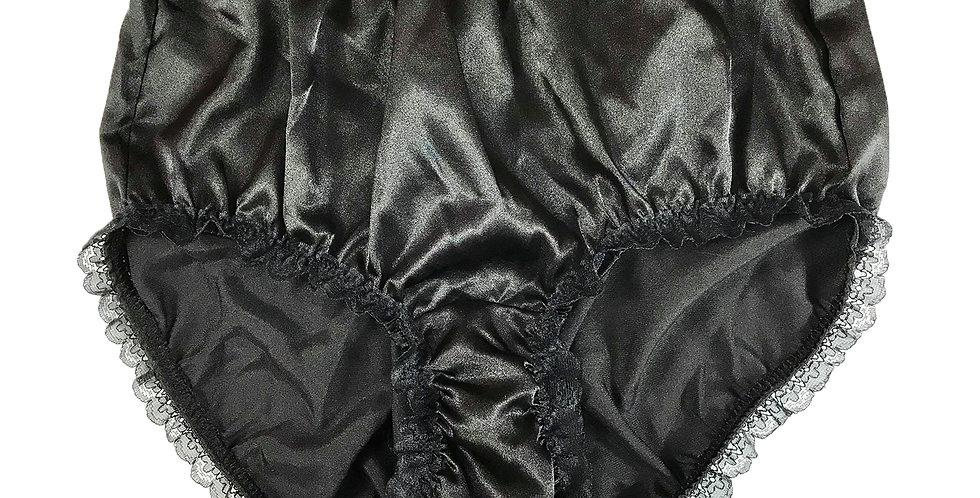 New Black Vintage Pinup Satin Panties Brief Knickers Men Handmade Lacy STH04D24