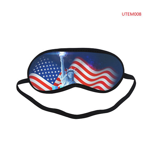UTEM008 USA Flag Eye Printed Sleeping Mask