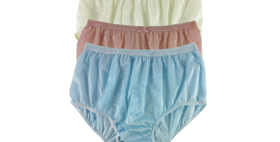NYTF18 Lots 3 pcs New Panties Wholesale Briefs Silky Nylon Men Women