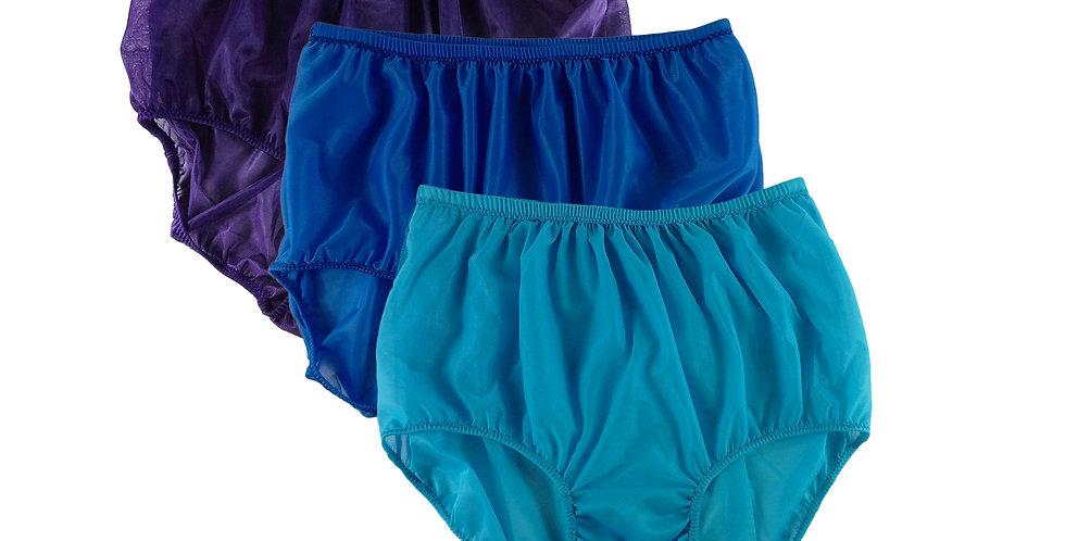 A136 Lots 3 pcs Wholesale Women New Panties Granny Briefs Nylon Knickers