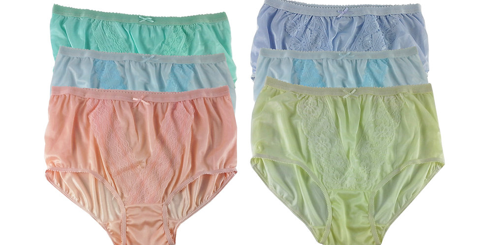 NLSG143 Lots 6 pcs Wholesale New Panties Granny Briefs Nylon Men Women