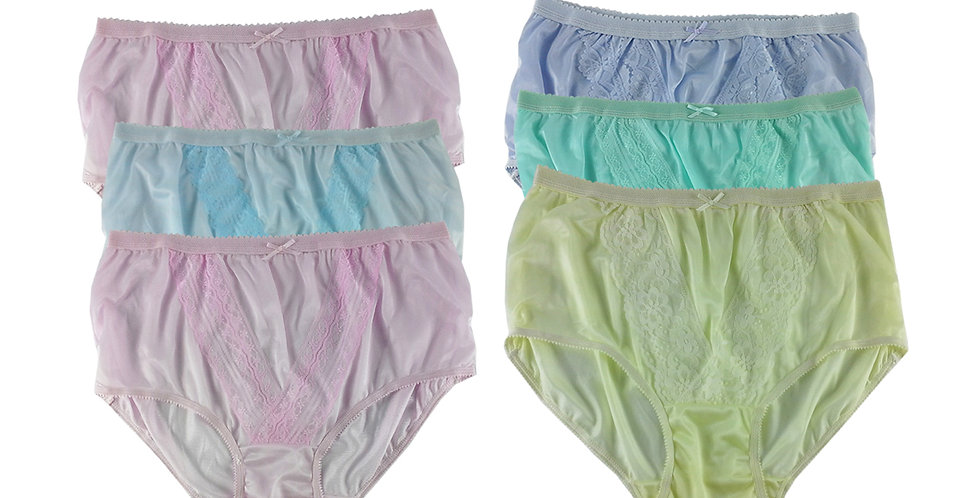 NLSG65 Lots 6 pcs Wholesale New Panties Granny Briefs Nylon Men Women