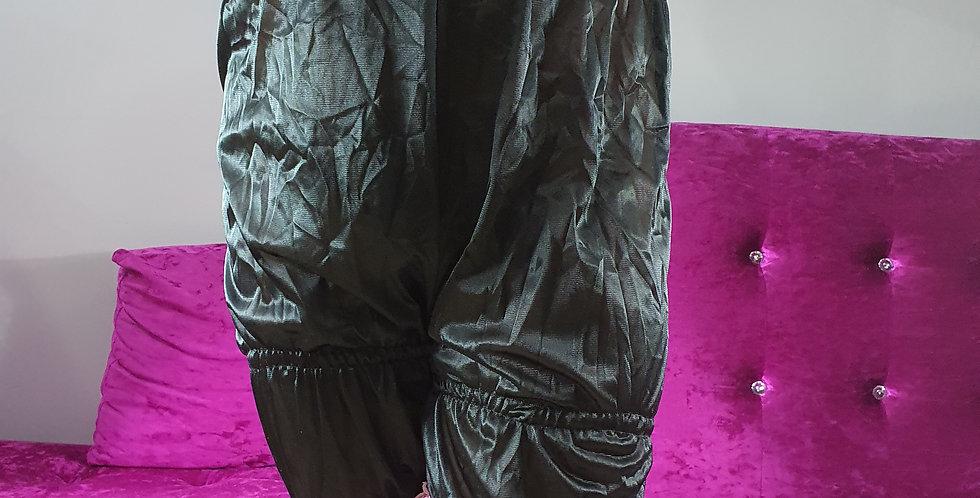 Black Bloomer Pinup Pettipants Men Handmade Sheer Nylon Slip Pink Lacy NSLTL13