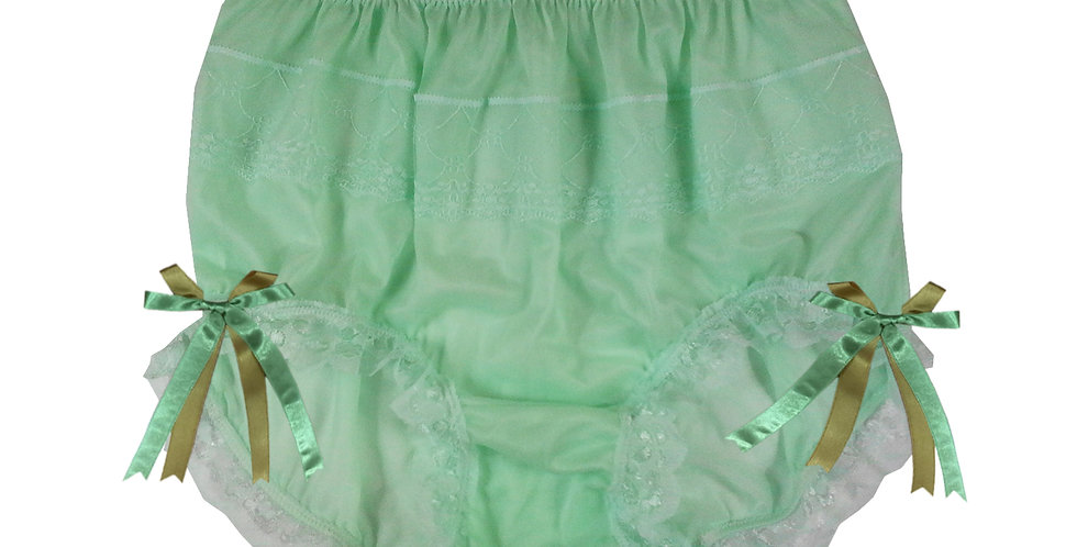 JYH10D03 green Handmade Nylon Panties Women Men Lace Knickers Briefs