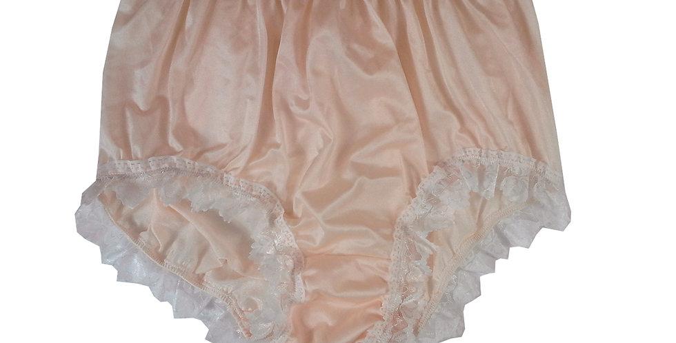 NQH24D05 Orange New Panties Granny Briefs Nylon Handmade Lace Men