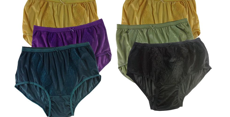 KJSJ33 Lots 6 pcs Wholesale New Panties Granny Briefs Nylon Men Women