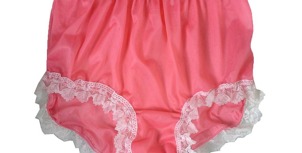 NNH24D12 Light Pink Handmade Panties Lace Women Men Briefs Nylon Knickers