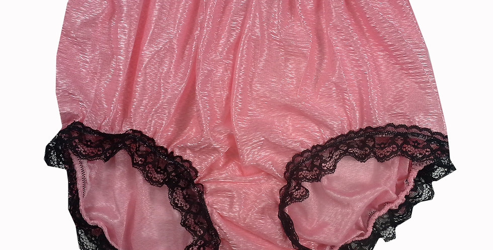 SFH08D09 Light Pink Shiny Nylon New Panties Women Men Handade Briefs