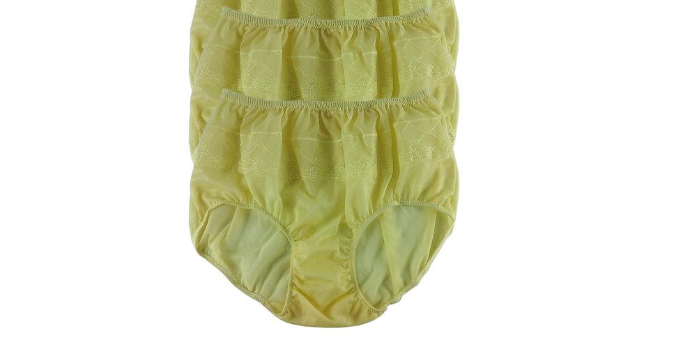 JYL FAIR YELLOW Lots 3 pcs Wholesale Nylon Panties Women Men Floral Briefs