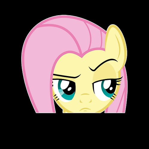 Peeking stickers Anime Stickers for Car Decals PKT261 Fluttershy My Little Pony