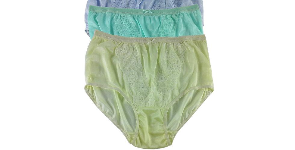 NLTH04 Lots 3 pcs Wholesale Panties Granny Lace Briefs Nylon Men Woman