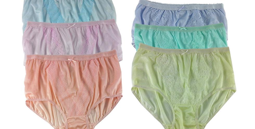 NLSG135 Lots 6 pcs Wholesale New Panties Granny Briefs Nylon Men Women