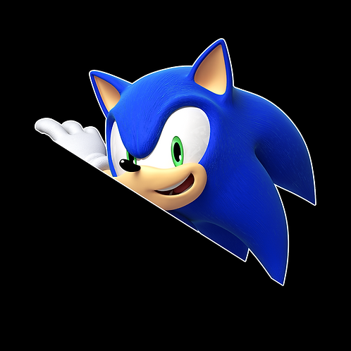 Peeking stickers Anime Stickers for Car Decals PKT249 Sonic The Hedgehog