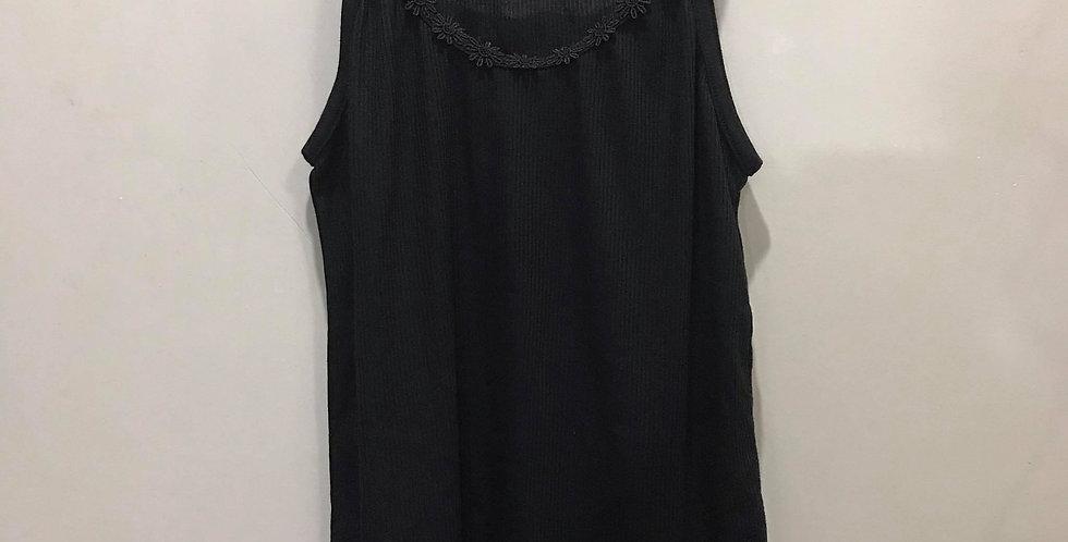 New Black Cotton Camisole Tank Top Floral Blouse Lace Women Men Lingerie CCS03