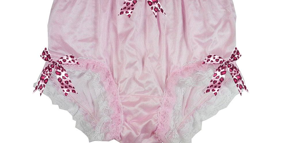 NYH22D05 Pink Handmade New Panties Briefs Lace Sheer Nylon Men Women