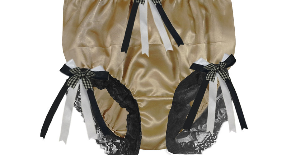 STPH18D34 Gold Brown New Satin Panties Women Men Briefs Knickers