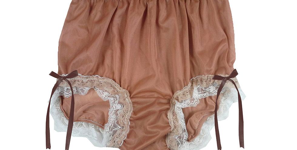 NNH21D06 Fair Brown Handmade Panties Lace Women Men Briefs Nylon Knickers