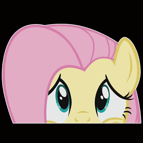 Peeker Anime Peeking Sticker Car Window Decals PK146 my little pony Fluttershy