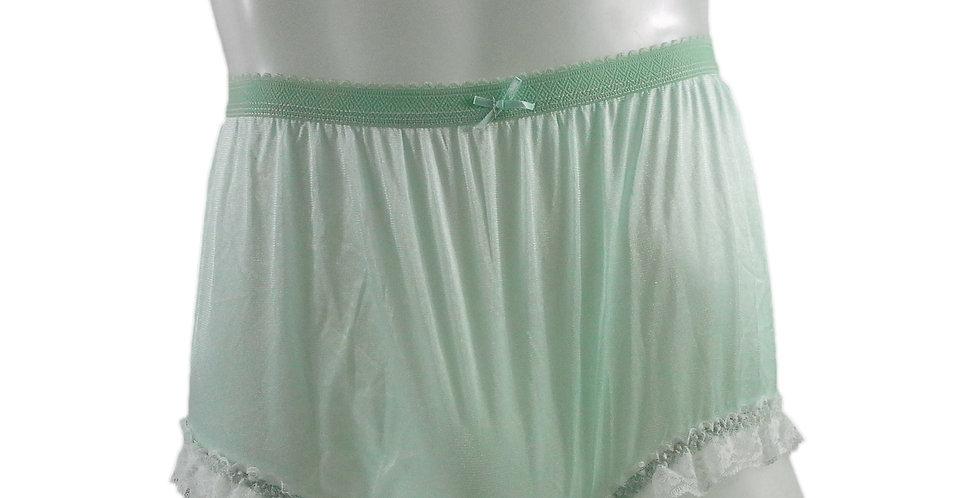 NYH02D05 Green Handmade New Panties Briefs Lace Sheer Nylon Men Women