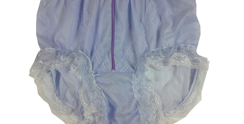 SSH23DP09 Purple Zipper Handmade Nylon Panties Lace Women Granny Men Briefs