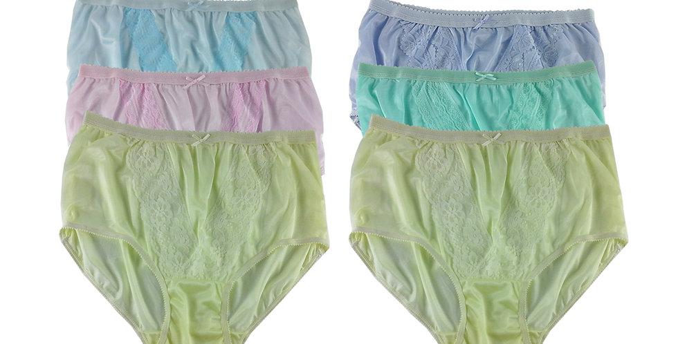 NLSG110 Lots 6 pcs Wholesale New Panties Granny Briefs Nylon Men Women