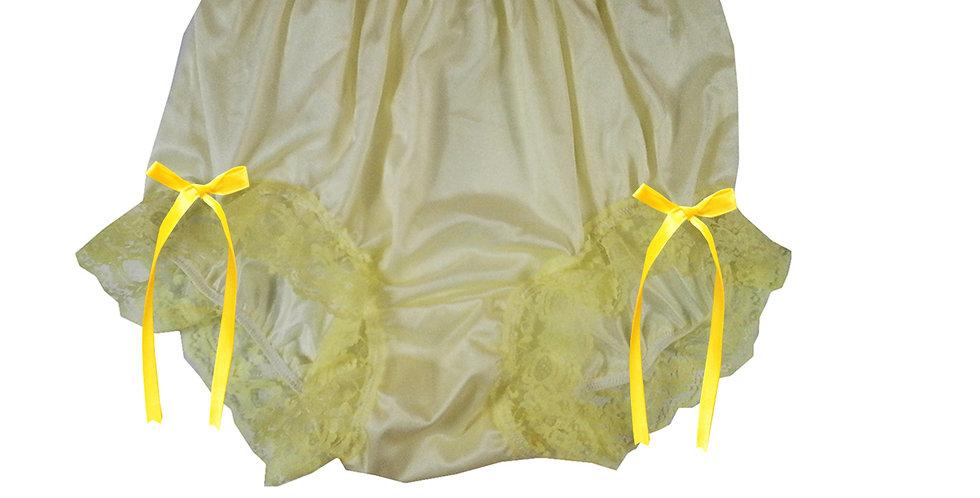 NQH17D01 Yellow New Panties Granny Briefs Nylon Handmade Lace Men