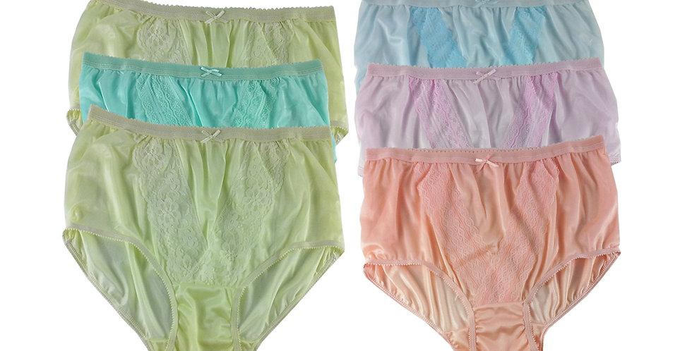 NLSG40 Lots 6 pcs Wholesale New Panties Granny Briefs Nylon Men Women