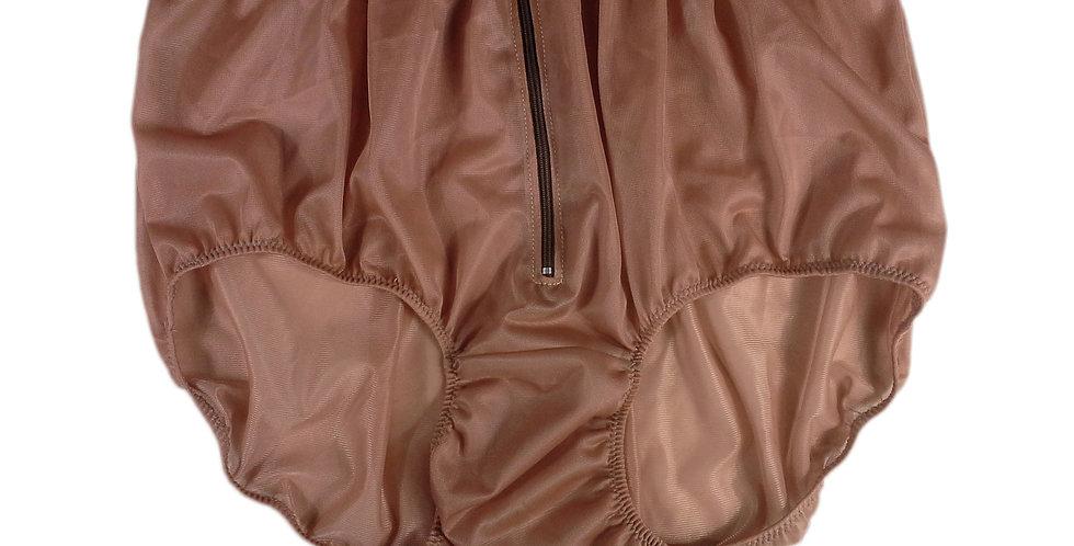 NH03D13 Fair Brown Handmade Panties Lace Women Men Briefs Nylon Knickers