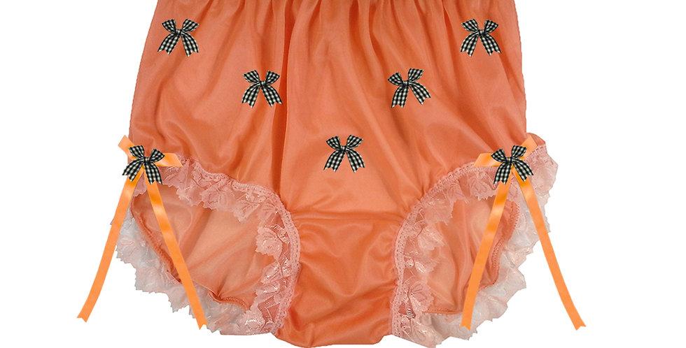 NNH18D13 Orange Handmade Panties Lace Women Men Briefs Nylon Knickers