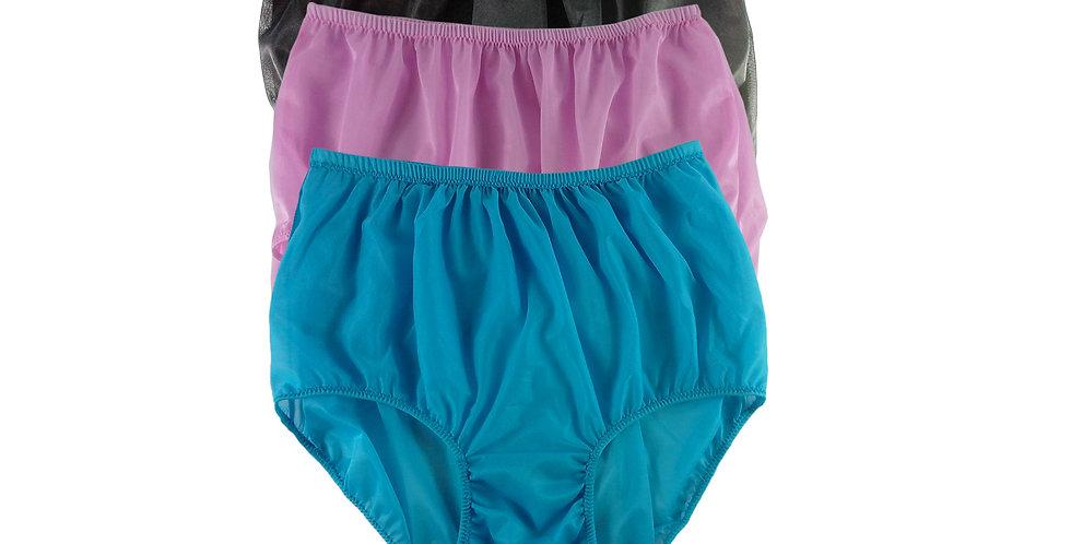 A69 Lots 3 pcs Wholesale Women New Panties Granny Briefs Nylon Knickers
