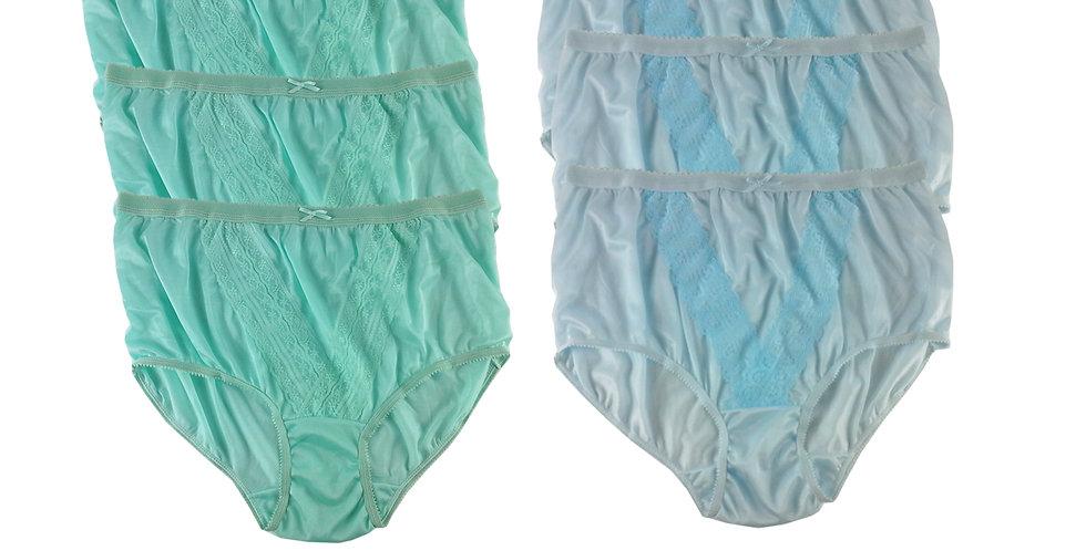 NLSG06 Lots 6 pcs Wholesale New Panties Granny Briefs Nylon Men Women