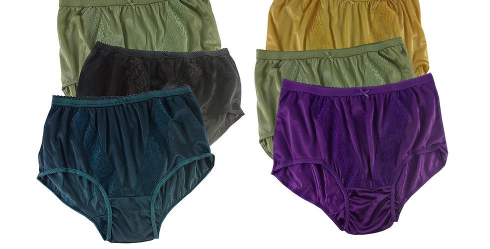 KJSJ20 Lots 6 pcs Wholesale New Panties Granny Briefs Nylon Men Women