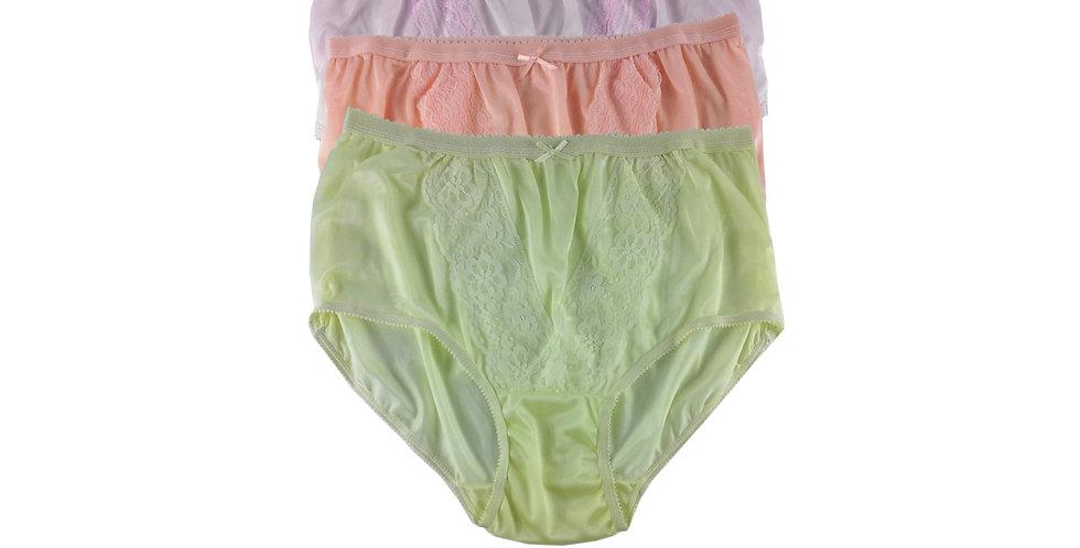 NLTH16 Lots 3 pcs Wholesale Panties Granny Lace Briefs Nylon Men Woman