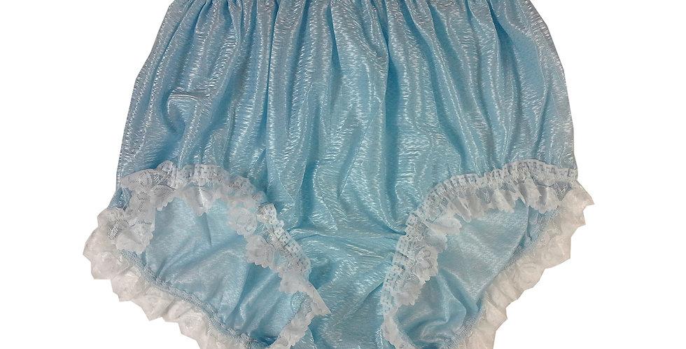 SFH24D02 Fair Blue Shiny Nylon New Panties Women Men Handade Briefs